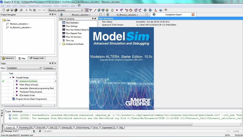 Quartus & ModelSim Tutorial Page