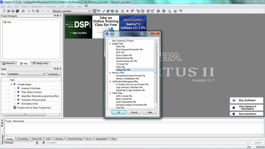 Quartus & ModelSim Tutorial Page